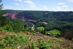 Aussichtpunkt Saartal beim Wanderweg in Taben-Rodt (Nr. 4)