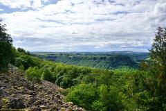 """Blick auf Kastel-Staadt von Felsenpfad """"Maunertgrat"""""""