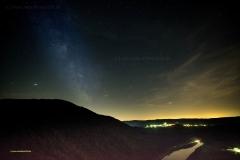 Milchstraße am südlichen Sommerhimmel über der Saar
